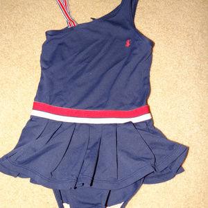 Ralph Lauren One Pc Swimsuit Red Wht Blue 6 (B4)